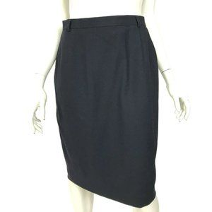 Escada Margaretha Ley Black Straight Pencil Skirt